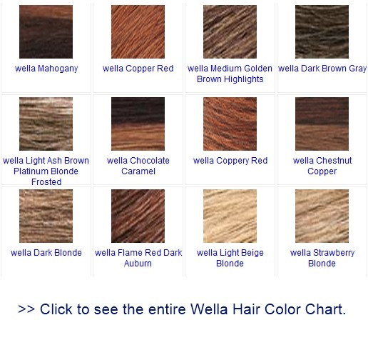 Click here to see the entire Wella hair color chart