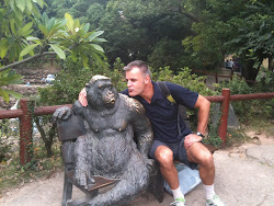 Ape and me.  I'm on your right. ha ha.