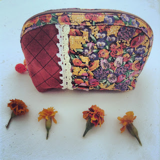 pochette liberty nubuck orange