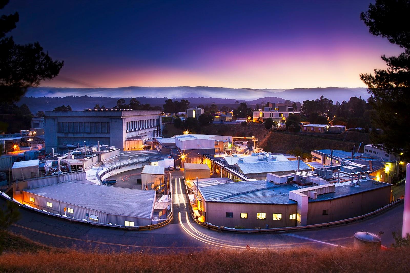 The Stanford Synchrotron Radiation Lightsource At Dusk Credit SSRL SLAC