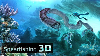 Screenshots of the Spearfishing 3D for Android tablet, phone.