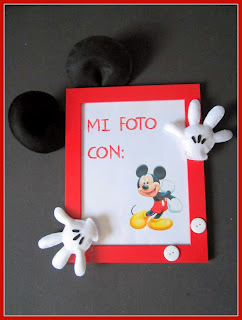 Marco de fotos Fieltro Mickey Mouse