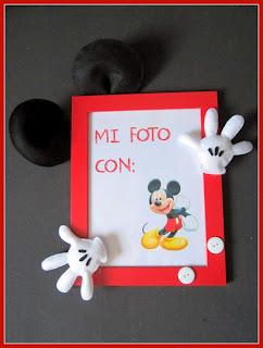 Marco de fotos Fieltro Mickey Mouse