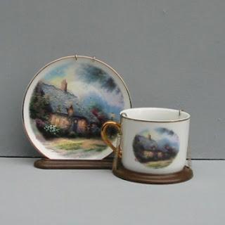Order a Thomas Kinkade Country Cottage Teacup Display