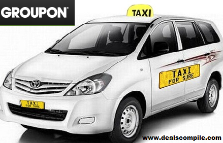 Flat Rs. 200 OFF on Taxi Services by TaxiForSure - Groupon