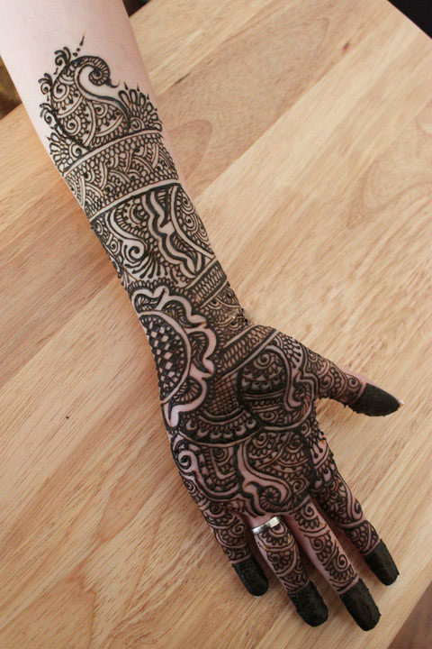 Mehndi Designs Full Hands Marriage : Mehndi design bridal full hand henna