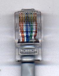 Conector RJ45 bien instalado