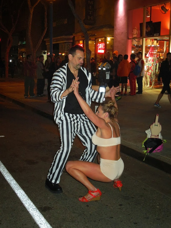 Robin Thicke Miley Cyrus costumes West Hollywood Halloween