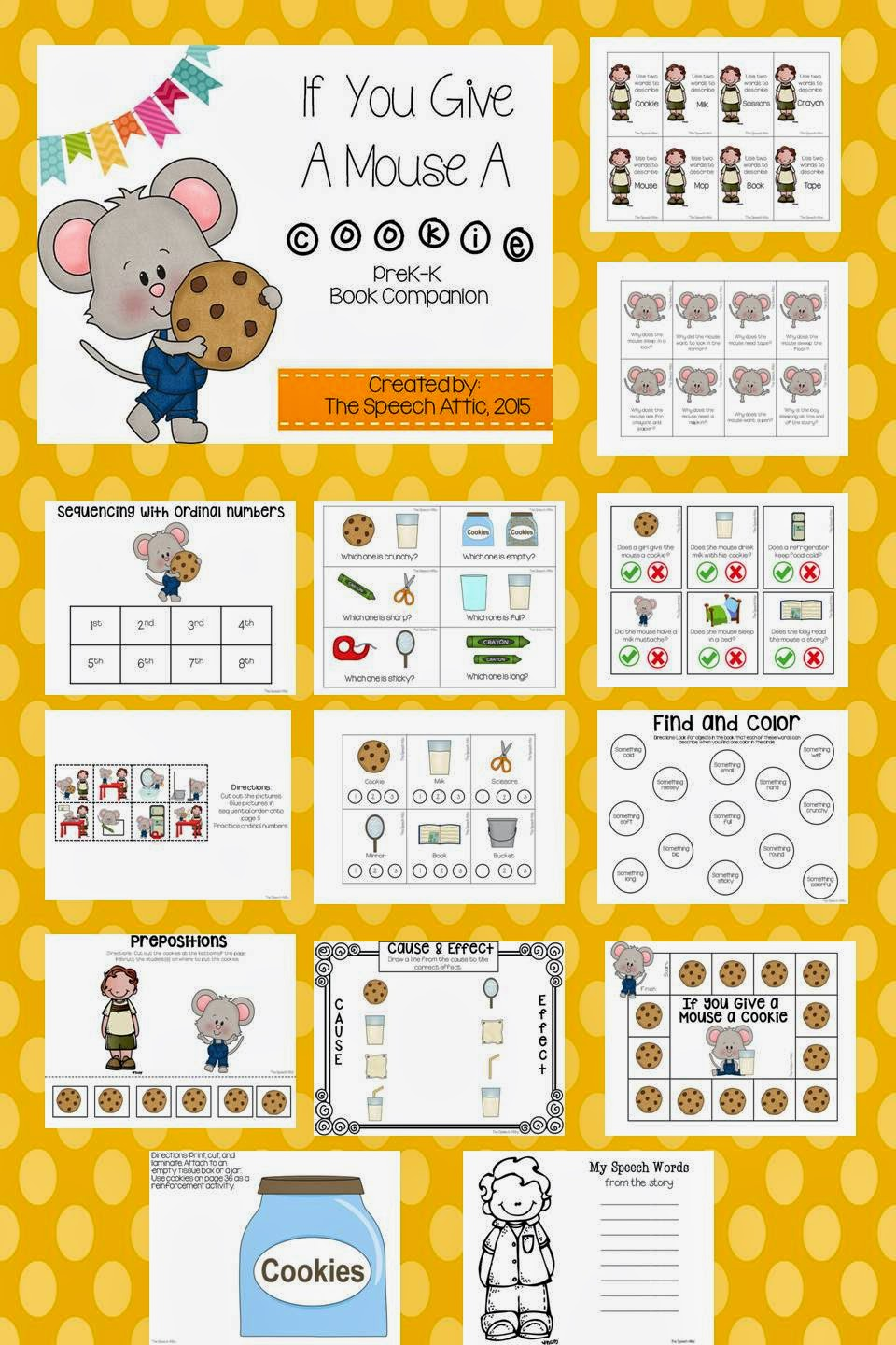 The Speech Attic If You Give A Mouse A Cookie – If You Give a Mouse a Cookie Worksheets