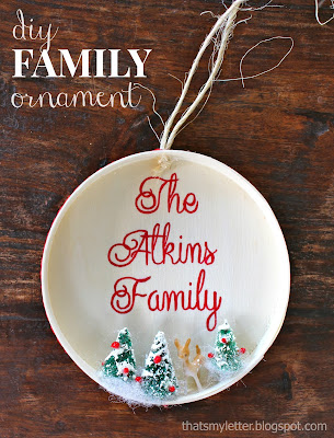 diy family ornament