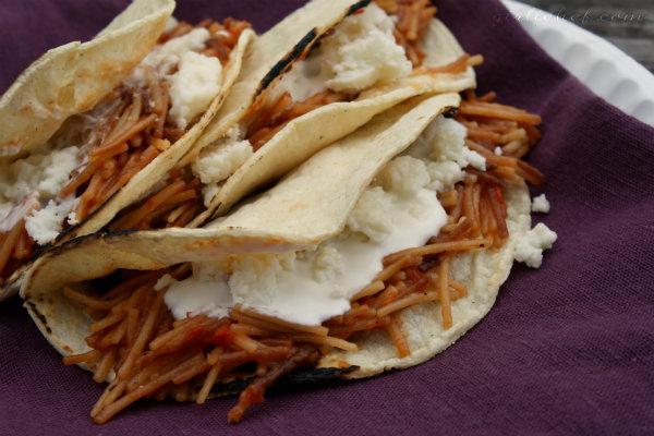 Spaghetti Tacos (Tacos de Fideos)