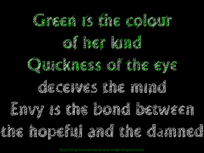 Green Is The Colour - Pink Floyd Song Lyric Quote in Text Image
