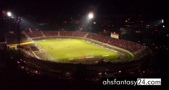 Malaysia Lawan Myanmar di Stadium Sultan Muhammad Ke-IV