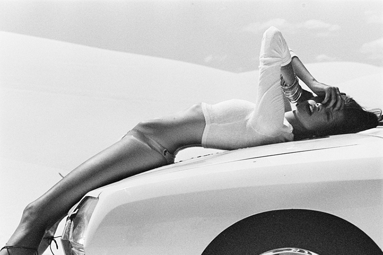 Babe on a car, photographed by Brydie Mack for Wolfclub Chronicles