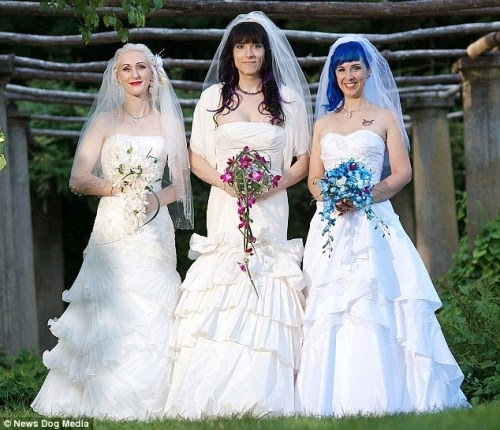 Meet the world's first married lesbian threesome...