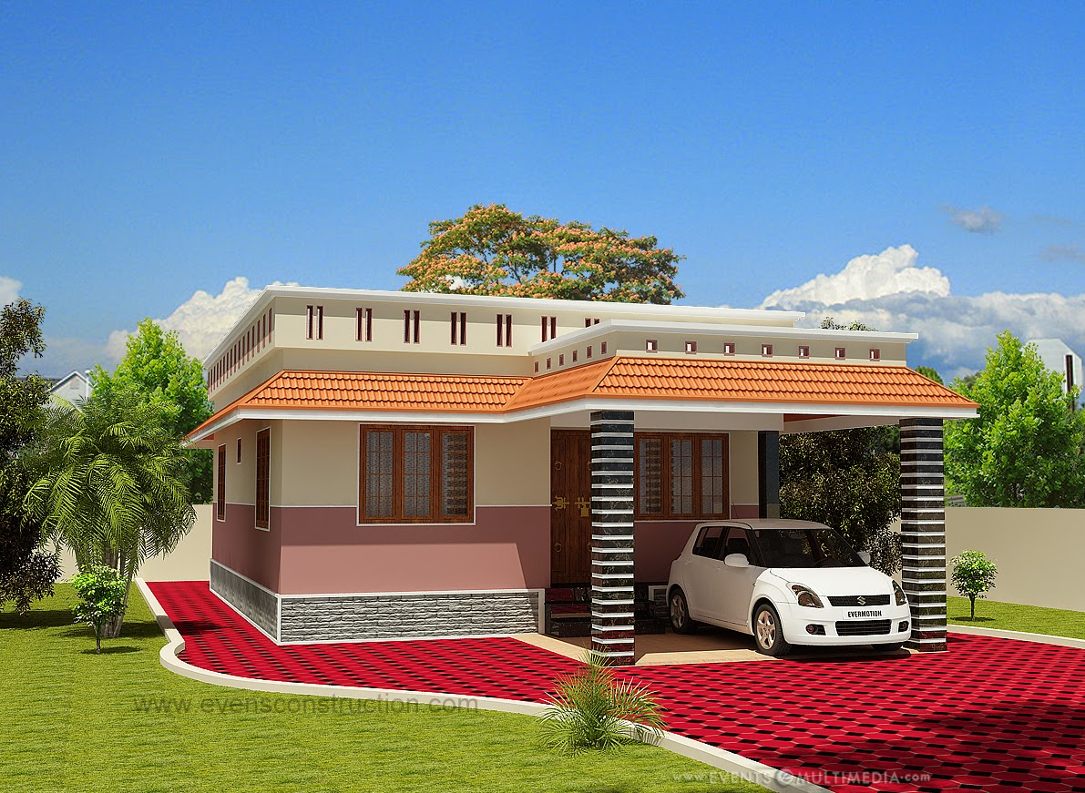 Evens construction pvt ltd single floor house flat roof - Exterior paint calculator square feet model ...