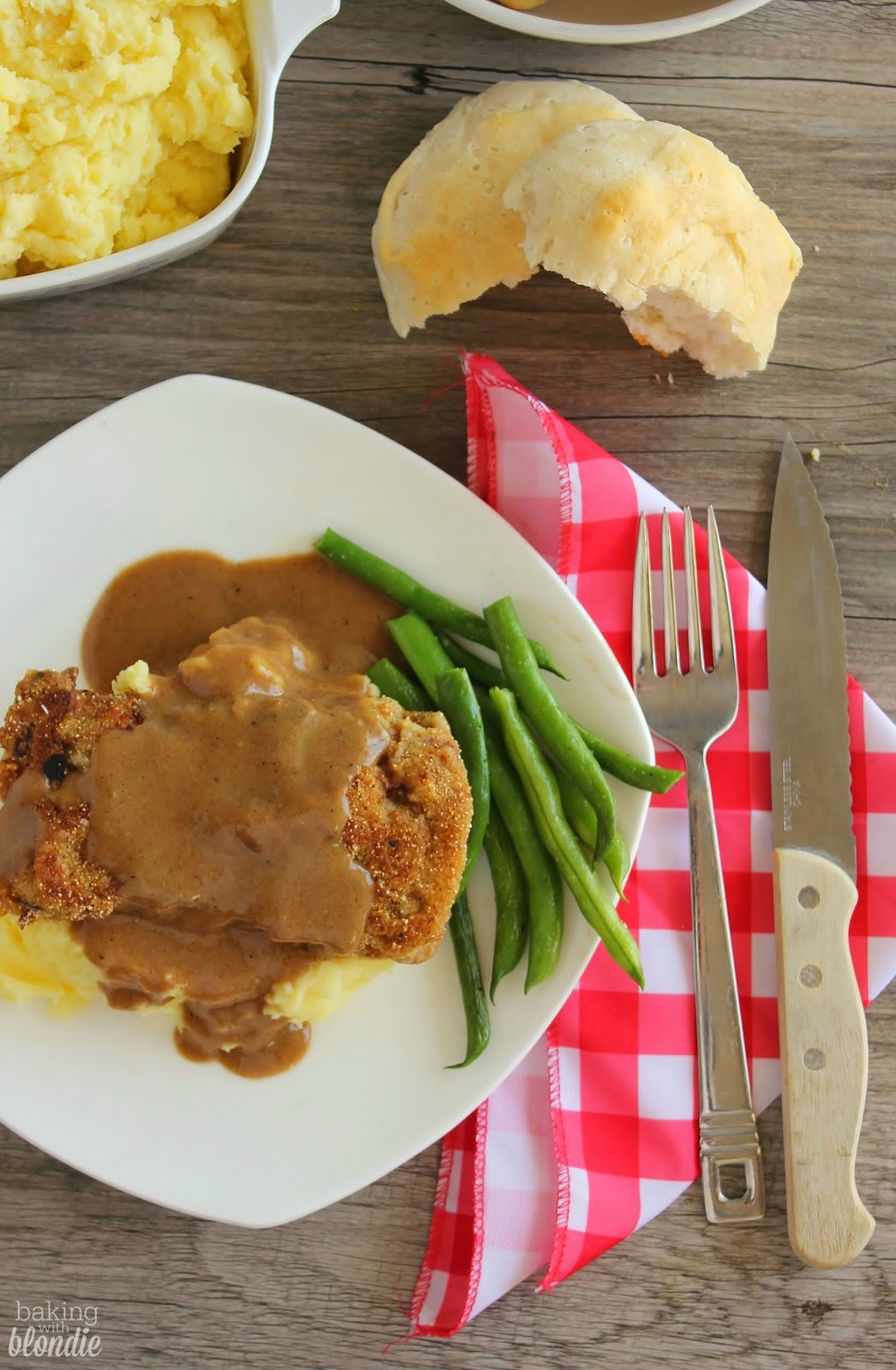 Chicken Fried Steak With Pan Gravy And Mashed Potatoes
