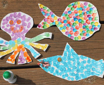 Paper Plate Sea Animals