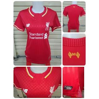 gambar photo Jersey Liverpool home ladies New Balance musim 2015/2016 enkosa sport toko online baju bola online