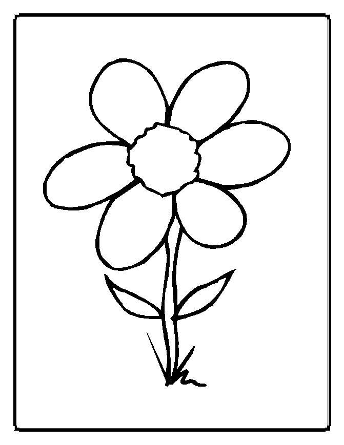 Flor Dibujos Para Colorear