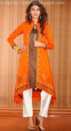 Kameez Fashion with Open Slip Coat