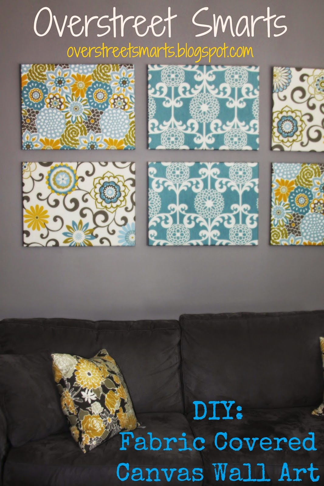 Fabric Covered Wall Art : House of overstreet diy fast frugal fabulous fabric