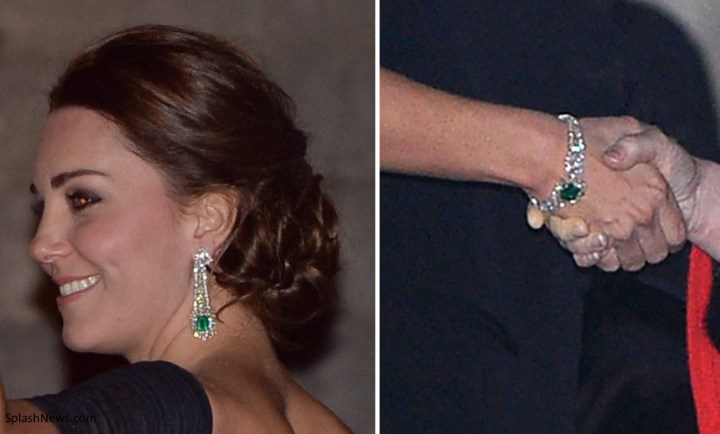 a closer look at the earrings