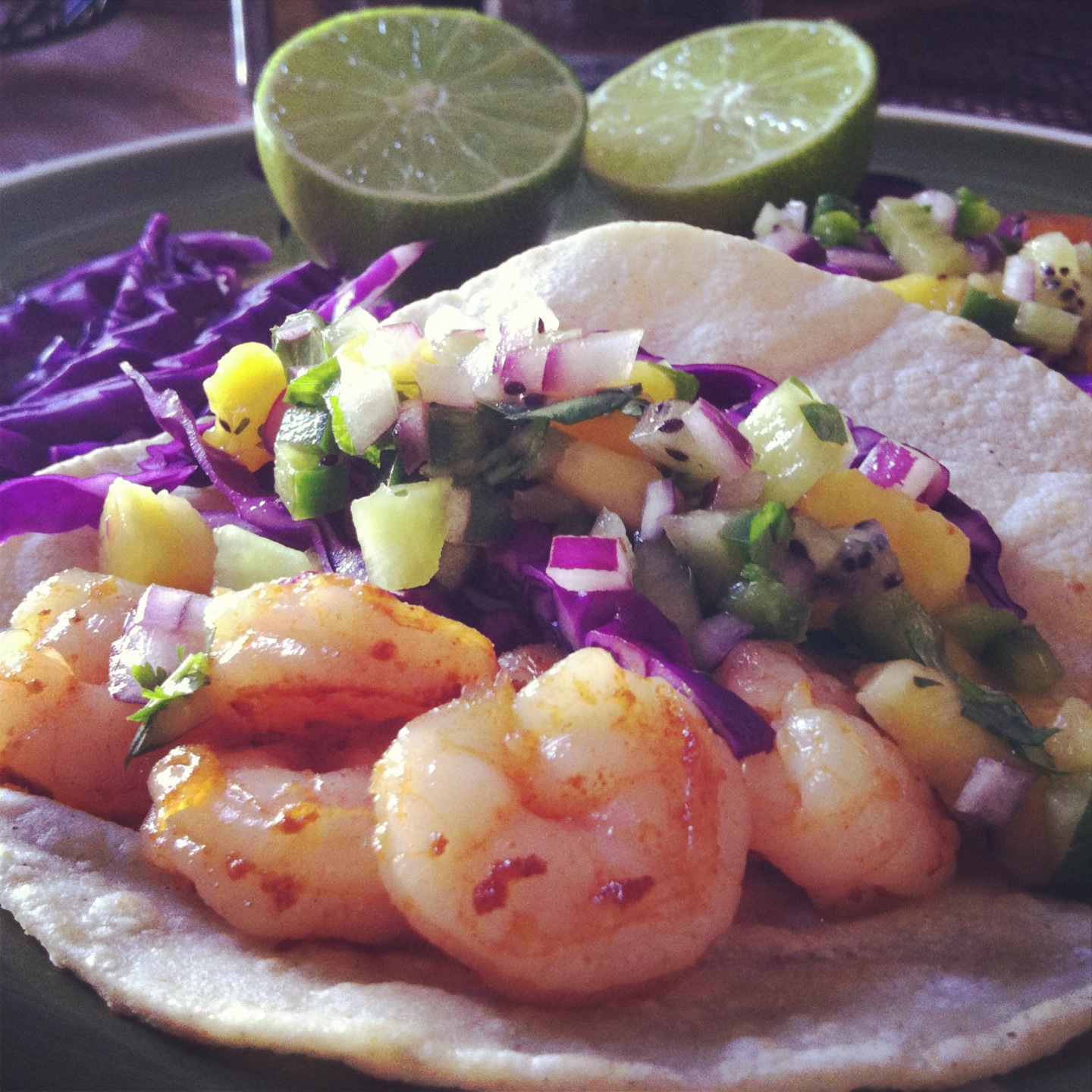 Beyond Borscht: Shrimp Tacos with Mango Pineapple Salsa