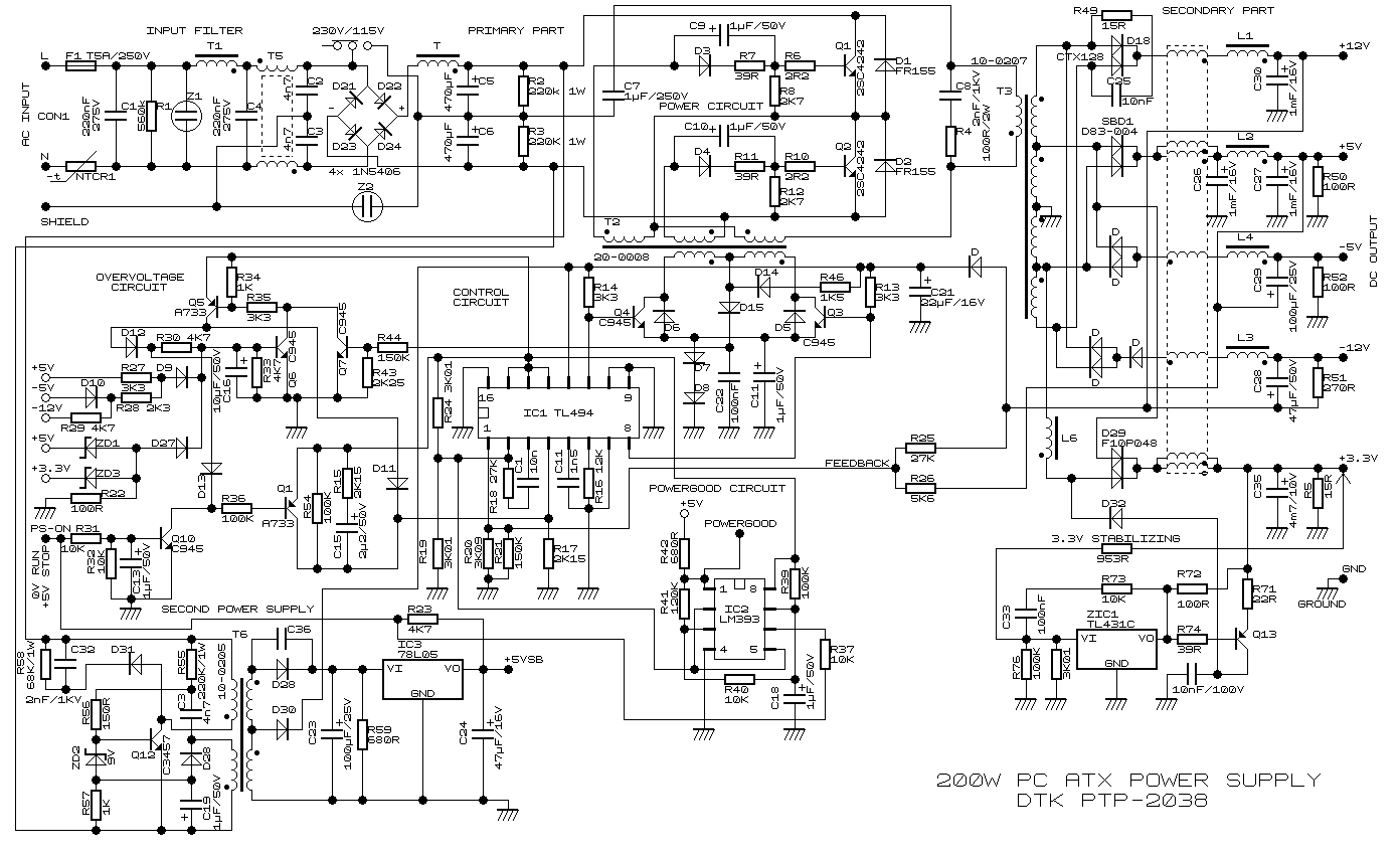 circuit diagram tool   circuit diagram   circuit diagram        simple  w atx pc power supply circuit diagram   electronic