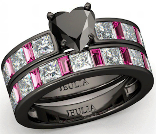 Black Diamond Engagement Wedding Ring Sets 68 Great Or this elegant Heart