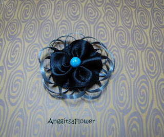 Bros BUnga Satin (Ribbon Flower Brooch)