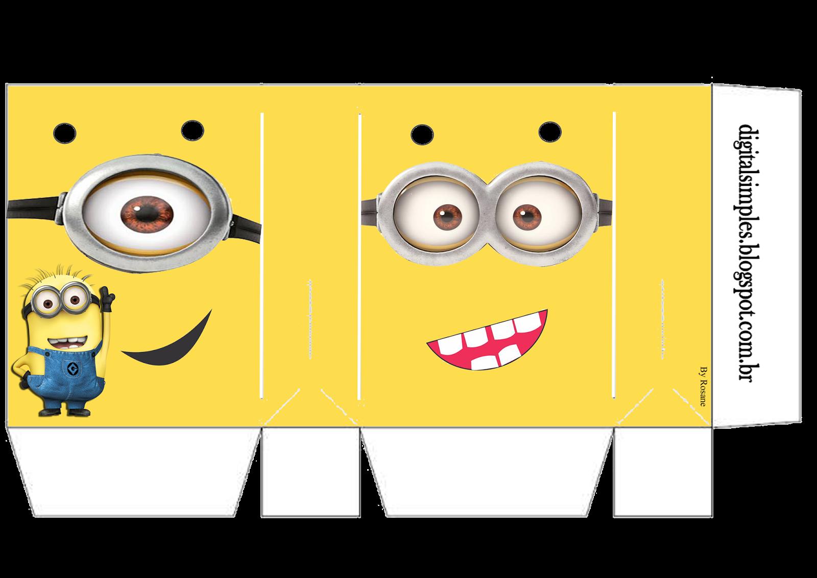 Minions: Bolsas de Papel para Imprimir Gratis.