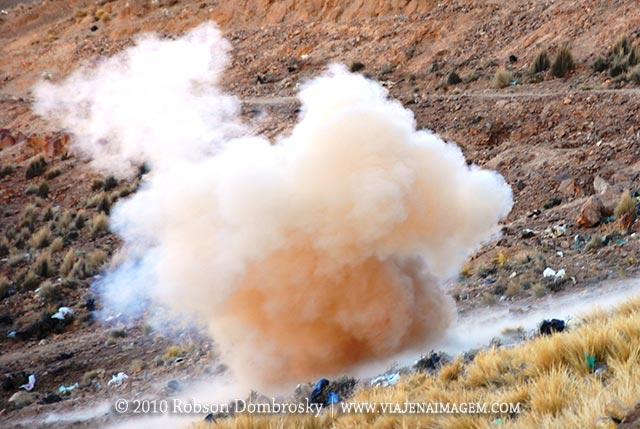 explosão de dinamite