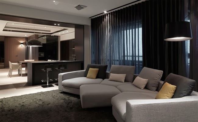 Casas minimalistas y modernas apartamento moderno con for Apartamentos minimalistas
