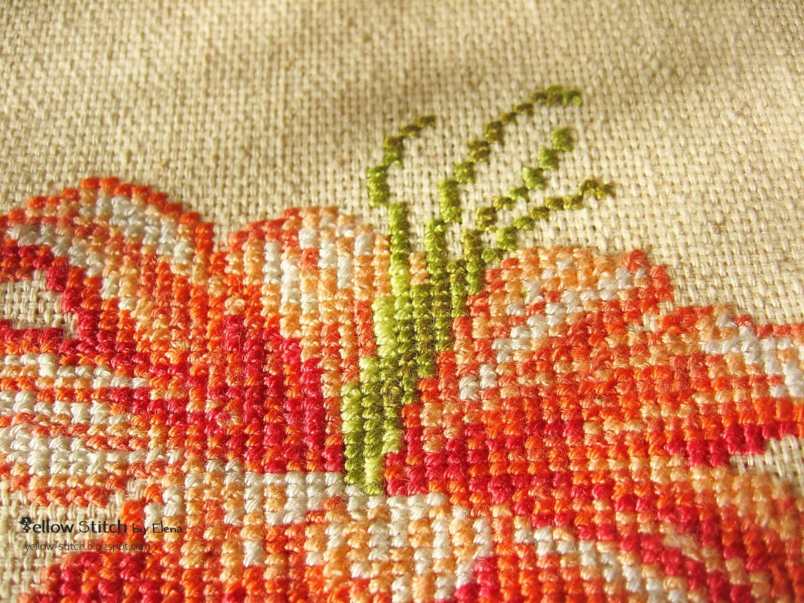 схема часов оранжевые лилии