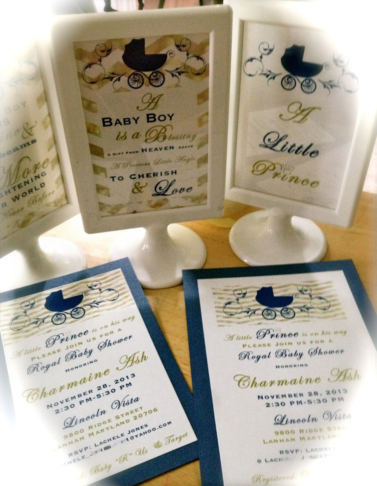 Enchanted Expectations: Royal Baby Shower Invitation