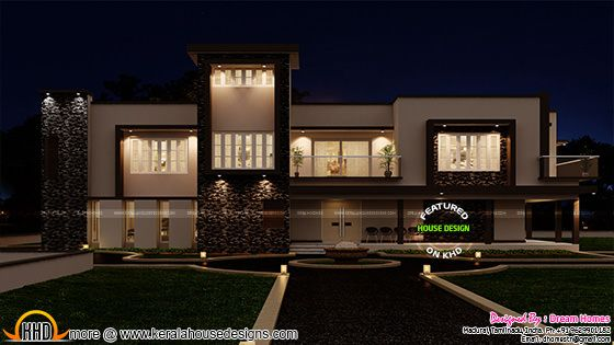Luxurious contemporary home with 2 car porch