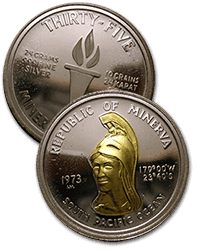 Monedas de Minerva