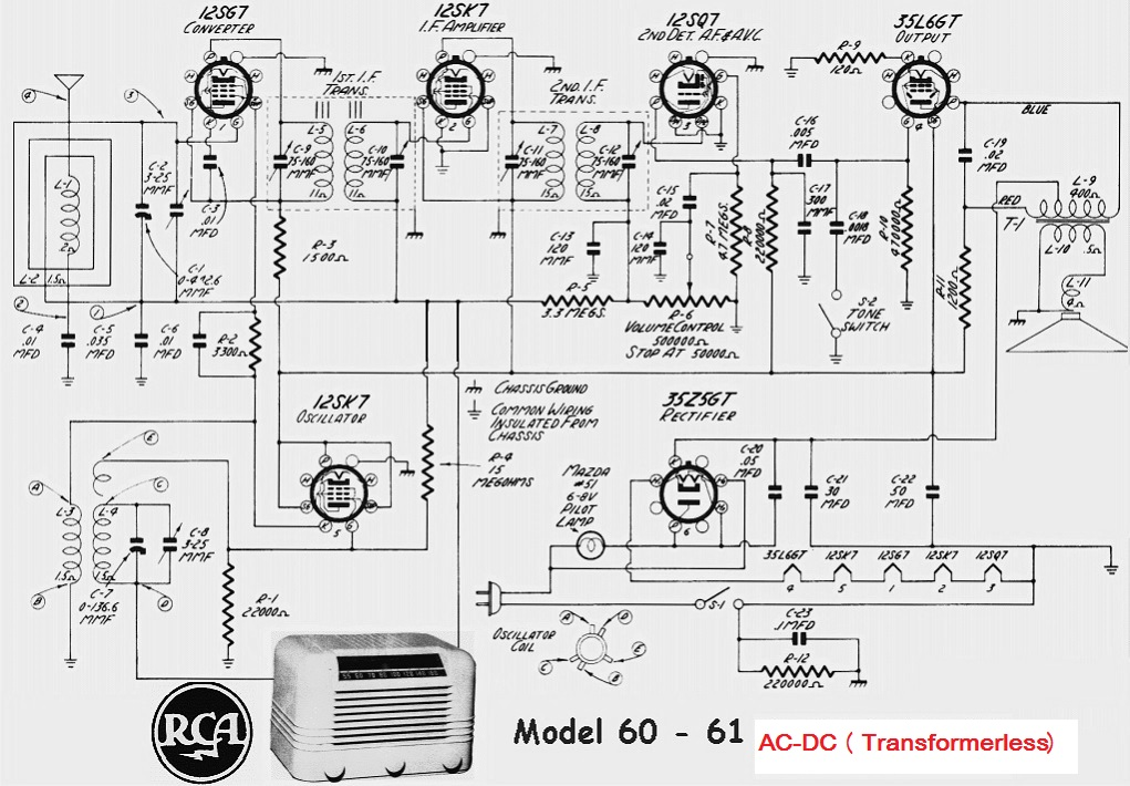 Rca Valve Radio Circuit Diagram 1960 on rca radio schematics