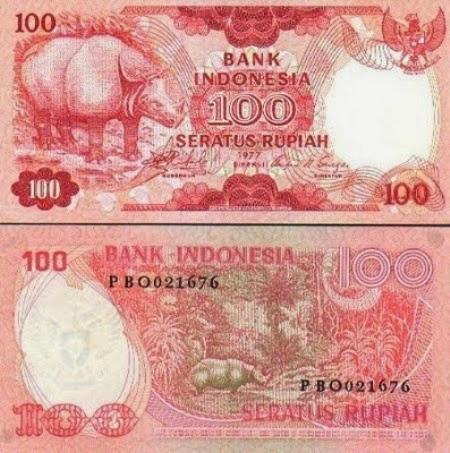 Uang Kertas 100 Rupiah 1977