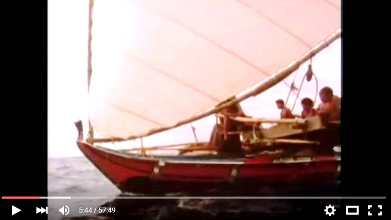 "Mau's boat in the film ""The Navigators, Pathfinders of the Pacific"""
