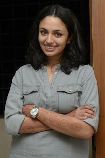 Malavika Nair Cute Smile in black leggings and Denim Shirt Cute Pics