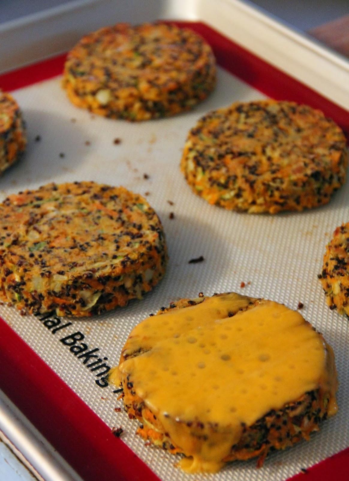 Jo and Sue: Carrot Zucchini Quinoa Veggie Burgers