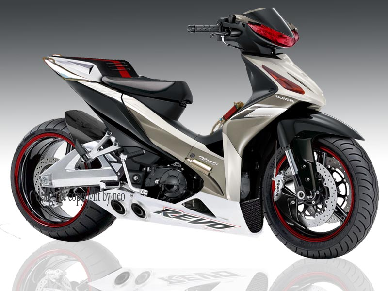 gambar modifikasi Honda REVO dari intertentunya. Semoga berkesan title=