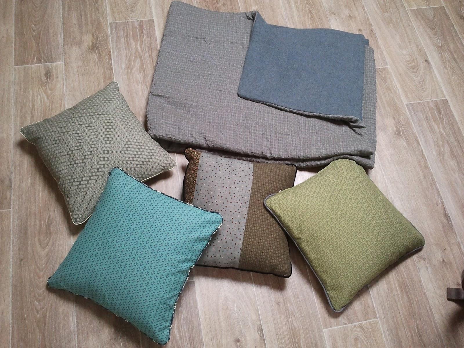Bobobrune plaid et coussins de canap for Plaid coton pour canape