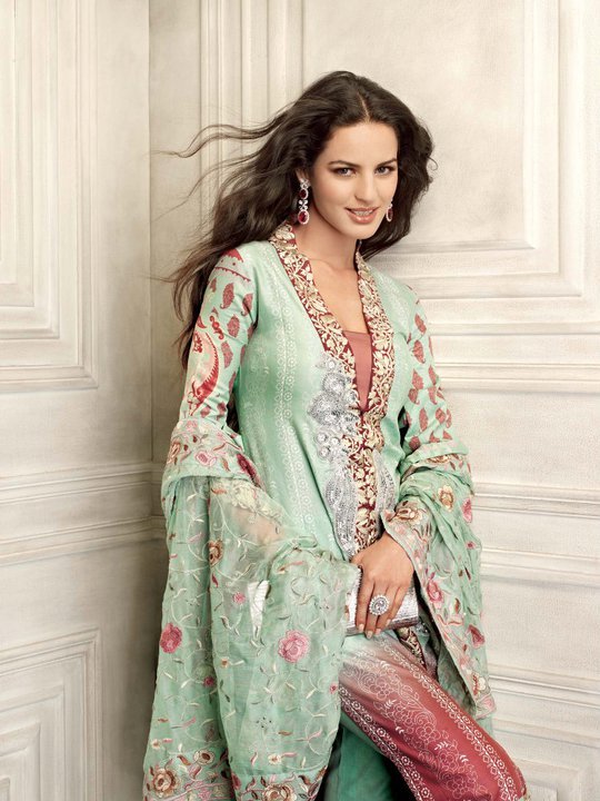 Gul Ahmed Eid Girls Dress Collection 2011