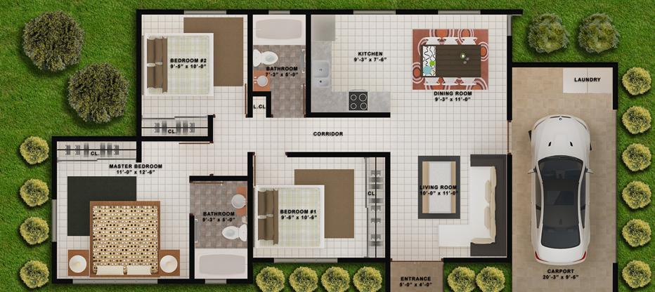 Planos de casas modelos y dise os de casas fachadas for Planos y fachadas de casas
