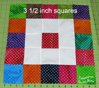 blocks sewn together in rows of 5 x 5