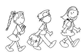 Dibujos Dia del Estudiante para Pintar, parte 1