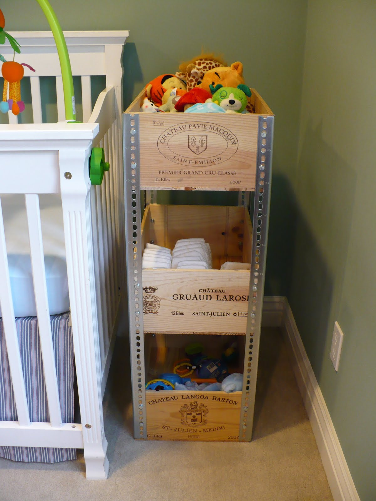 Pretty neat organizer wine crate shelves What to do with wine crates